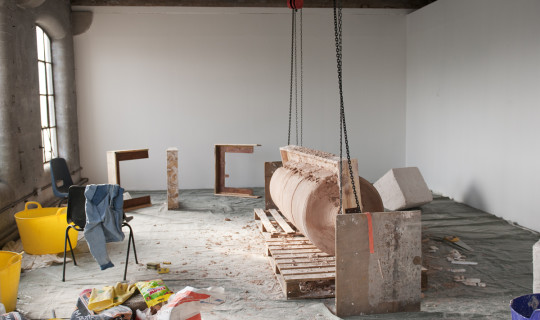 3 - Most objects are born from within the space. Gallery temporarily converted into studio.jpg
